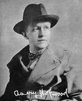 Autographed photo of Avery Hopwood in a hat and coat
