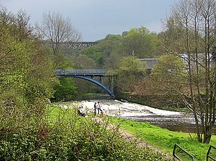 Millheugh Bridge and the Larkhall Viaduct