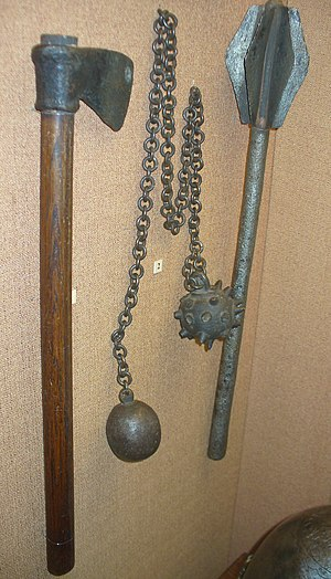 Chain weapon - Image: Axe flail mace GIM