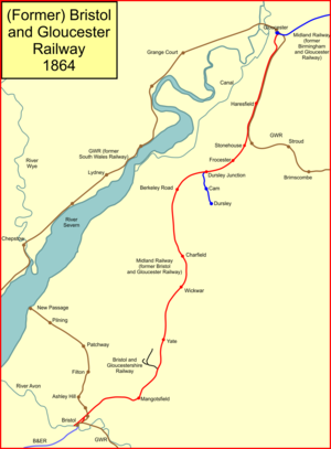Bristol and Gloucester Railway - The Bristol and Gloucester lines in 1864