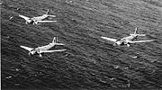 B-18 Bolos in Formation over Hawaii.