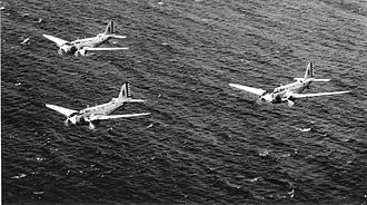 Douglas B-18 Bolo - Douglas B-18 formation during exercises over Hawaii, 1940-1941.