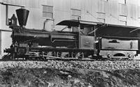 B12 Locomotive no. 17 on display at Roma Street, 1914.jpg