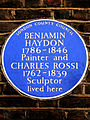 BENJAMIN HAYDON 1786-1846 Painter and CHARLES ROSSI 1762-1839 Sculptor lived here.jpg