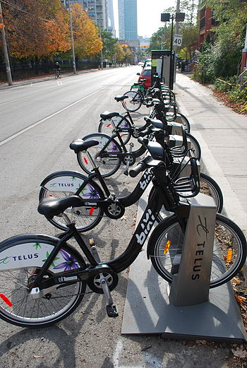 English: Bike sharing system in Toronto