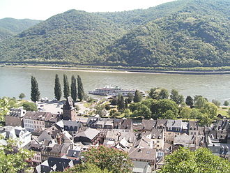 Bacharach - Rhine in Bacharach, view from Castle Stahleck
