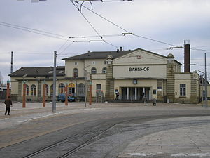 Gotha station - Entrance building in 2007