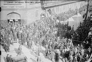 Baker Bowl - Crowd entering the Baker Bowl, 1915