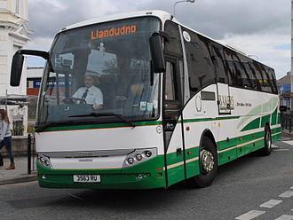 BakerBus - VDL Berkhof bodied Scania K114EB in Llandudno in May 2013