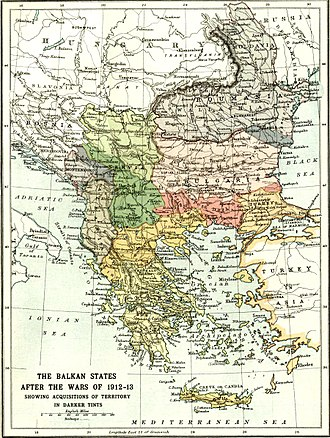 Greece during World War I - The Balkans after the Balkan Wars