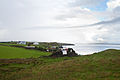 Ballysaggart Friary in front of Inver Bay 2010 09 22.jpg