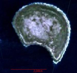 Satellitenbild von Banaba