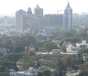 Public Utility Building, Bangalore - Image: Bangalore Aerial view from MG road Utility Building 4