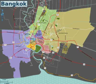 Userglobe trotterbangkok travel guide at wikivoyage map of bangkok sciox Gallery