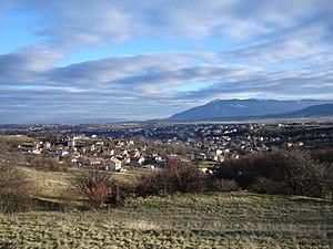 Bankya - Bankya, with Sofia and Vitosha Mountain in the background