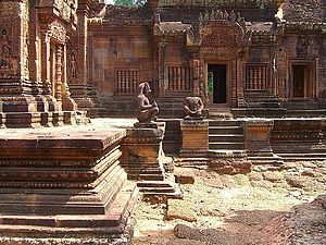 André Malraux - The Banteay Srei temple was the subject of a celebrated case of art theft when André Malraux stole four devatas in 1923 (he was soon arrested and the figures returned).