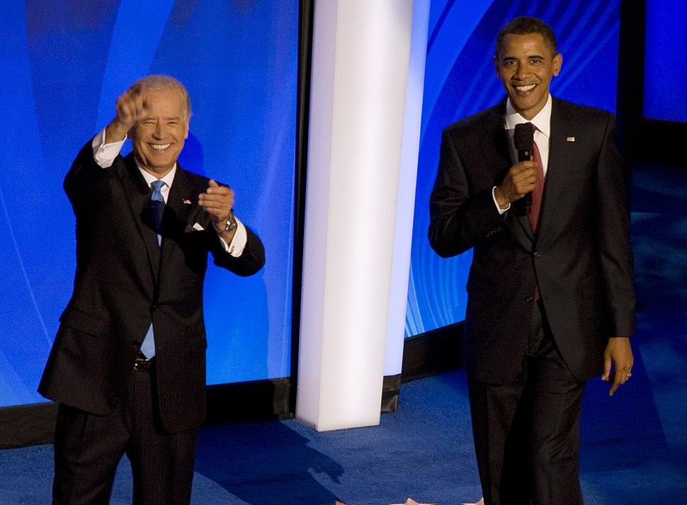 Barack Obama and Joe Biden 2008 DNC (04) (cropped2)