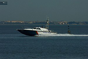 National Republican Guard (Portugal) - GNR Coastal Control Unit patrol boat.