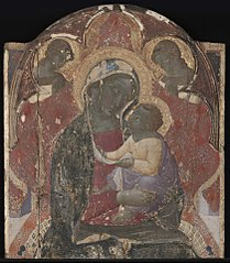 Virgin and Child Enthroned with Two Angel