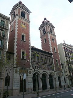 Church in Barcelona, Spain