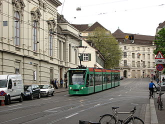 Canton of Basel-Stadt - Tram service for commuting within the Basel city area
