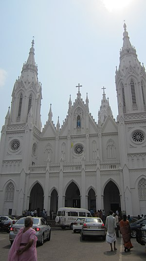 Basilica of Our Lady of Dolours, Thrissur - Image: Basilica of Our Lady of Dolours facade