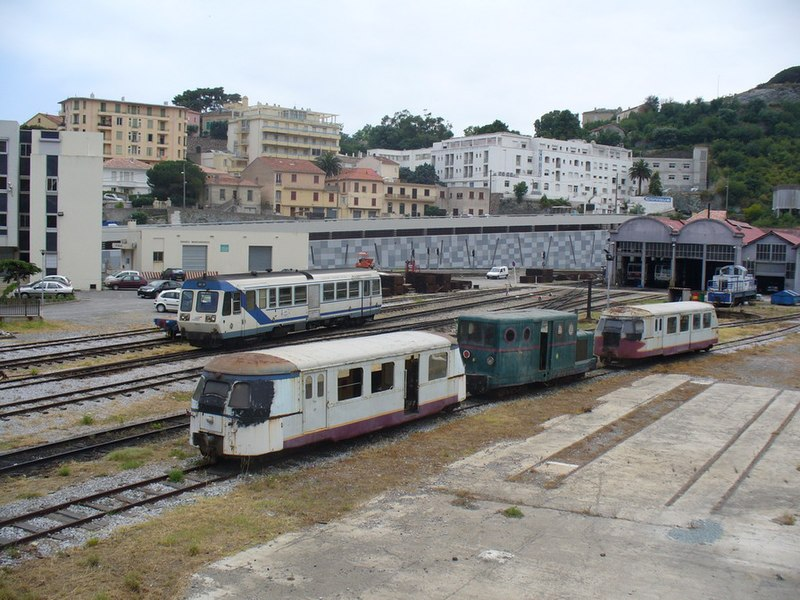 Bastia - old trains at the SNCF Corse station