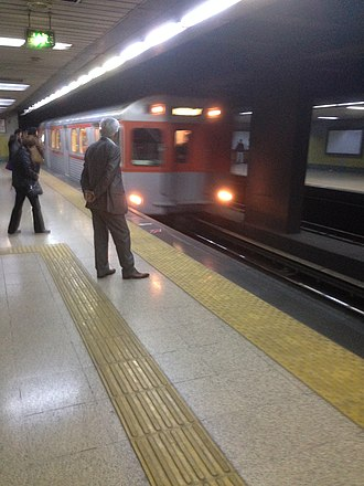 Ankara Metro - The original H6-series variant metro train on the M1 line of the Ankara Metro