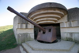 Gold Beach - A gun emplacement at Longues-sur-Mer battery, photographed in 2008