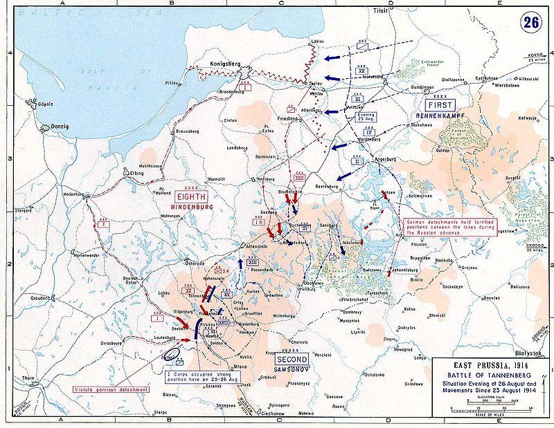 ملخص ساحه الحرب الاوروبيه في الحرب العالميه الاولى  800px-BattleOfTannenberg2