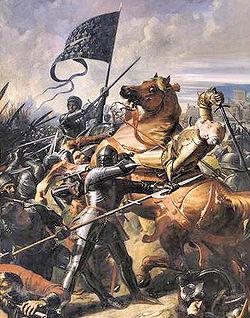 Bataille de Castillon (1453) par Charles-Philippe Larivière (1798-1876)