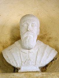 Beata Vergine del Soccorso, busto lapide commemorativa Antonio Riccoboni (Rovigo).JPG