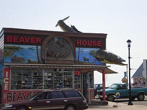 Grand Marais, Minnesota - The giant walleye at Beaver House bait shop, a Grand Marais landmark