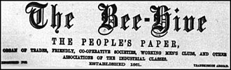 The Bee-Hive (journal) - Headline of the Bee-Hive for 20 May 1871
