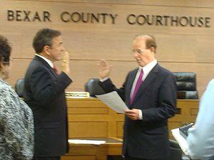 Chris Marrou - Being sworn in by Nelson Wolff.