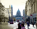 Belfast City Hall seen from Donegal Place Merged Photograph (18207242256).jpg