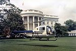 Bell H-13J landing on White House lawn in 1957.jpg
