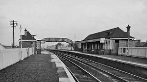 Bellshill railway station - Bellshill station in 1961