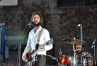 Ben Bridwell - Ben playing in Brooklyn on June 20, 2010 with drummer Creighton Barrett