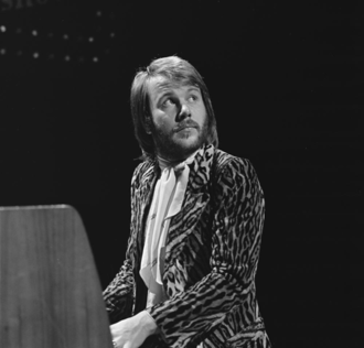 Benny Andersson - Andersson on 'The Eddy Go Round Show' in 1975.