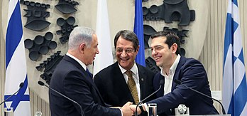 Israeli Prime Minister Benyamin Netanyahu, Cyprus President Nicos Anastasiades and Greek Prime Minister Alexis Tsipras on meeting in Nicosia on Jan 28, 2016 affirmed their full support for the EuroAsia Interconnector