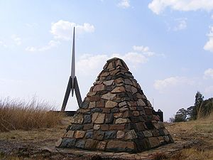 Belfast, Mpumalanga - Battle of Berg-en-dal Memorial south of Belfast.