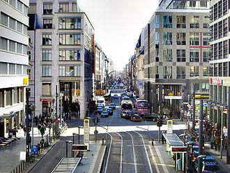 Unknown (2011 film) - Friedrichstraße, Berlin, is the scene of a car chase