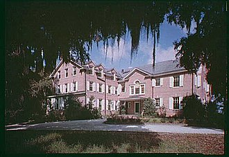 Hobcaw Barony - Rear view of the Hobcaw House