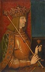 Maximilian I. (1459-1519), Bildnis in halber Figur
