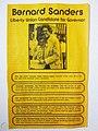 Bernie Sanders 1970s Gubernatorial Campaign Pamphlet (front).jpg