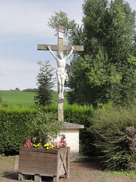 Bernot (Aisne) croix de chemin