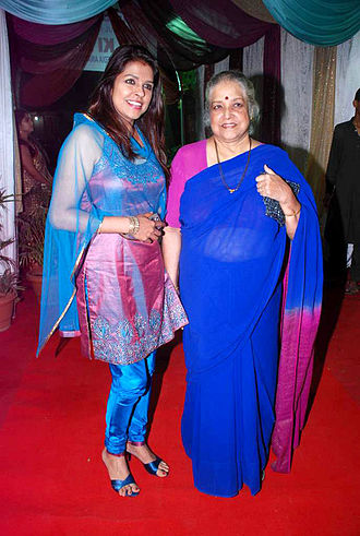 Shubha Khote - Shubha with her daughter Bhavana Balsavar
