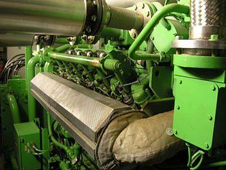 GE Jenbacher - A Jenbacher gas engine running on biogas (bio-methane) in Güssing, Austria