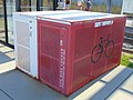Bicycle lockers at Murray North station, Murray, Utah, Aug 16.jpg